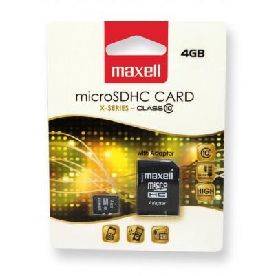 MAXELL Micro SDHC 4 GB Klasse 10 + SD-Adapter