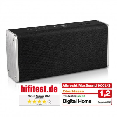 Albrecht MAX-Sound 900S WLAN Multiroom Lautsprecher 14W