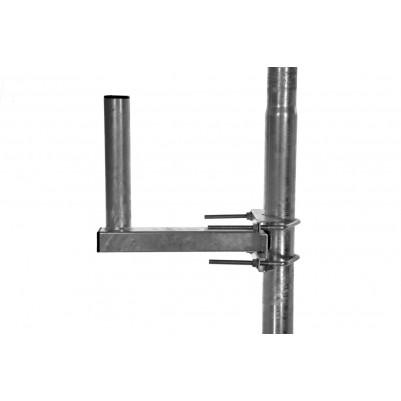 A.S.SAT Stahl-Mastausleger 30cm geeignet für Masten 48-130mm Durchmesser