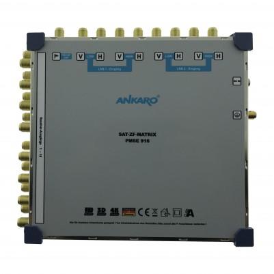 ANKARO Multischalter 9/16 Externes Netzteil Quattro LNB Terr. Eingang aktiv