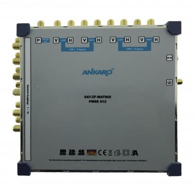 ANKARO Multischalter 9/12 Externes Netzteil Quattro LNB Terr. Eingang aktiv