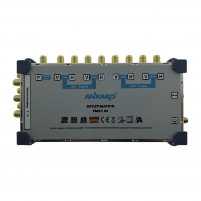 ANKARO Multischalter 9/6 Externes Netzteil Quattro LNB Terr. Eingang aktiv