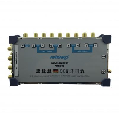 ANKARO Multischalter 9/8 Externes Netzteil Quattro LNB Terr. Eingang aktiv