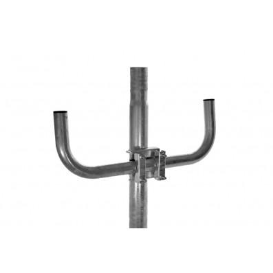 SAT Stahl Doppel-Mastausleger 2 x 25 cm verzinkt