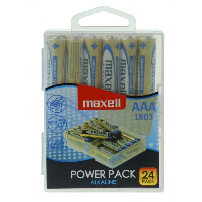 MAXELL Alkaline LR03 AAA Micro 24er POWER PACK