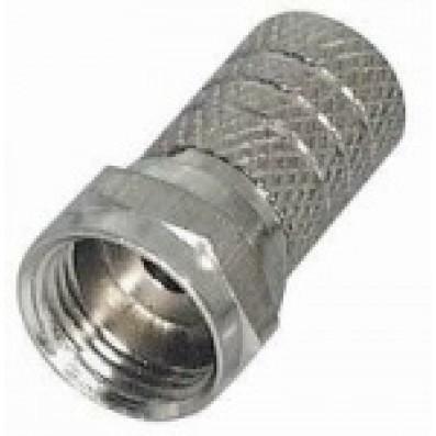 F-Schraubstecker 6mm für 6mm Koaxkabel