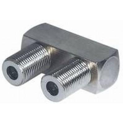 F-Unterputzverbinder 2x F-Buchse in U-Form |kleine Bauform