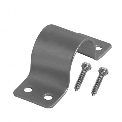 A.S. SAT Stahl - Mastschelle 50mm verzinkt für Rohre von 48-50mm Ø inklusive 2 Holzschrauben