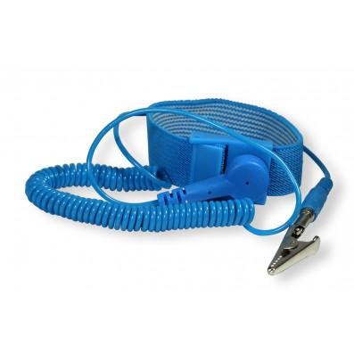 Rework ESD Armband mit Anschlussspiralkabel Püchelstecker
