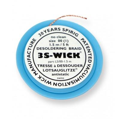 Spirig 3S-Wick Lotsauglitze 0,8 mm breit 1,5 m lang auf Antistatikspule weiß