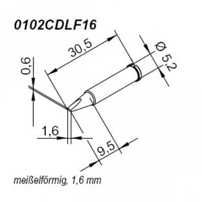 Ersa ERSADUR Lötspitze für i-Tool gerade meißelförmig 1,6 mm