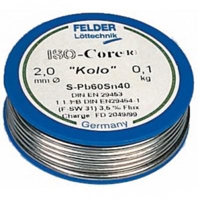 ISO-Core Lötdraht BLEIFREI Sn95,5Ag3,8Cu0,7 mit 3,5% Flussmittelgehalt 1mm auf 100g Rolle