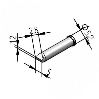 ERSA ERSADUR Lötspitze für i-Tool gerade meißelförmig 5,0 mm