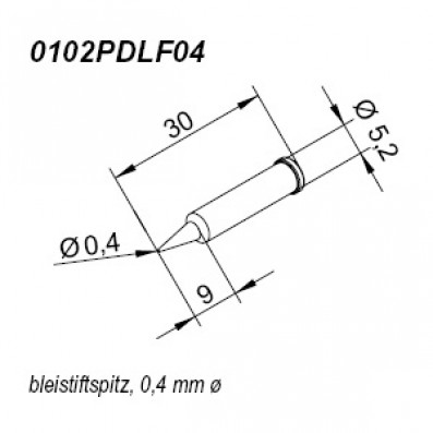ERSA ERSADUR Lötspitze für i-Tool gerade bleistiftspitz 0,4mm