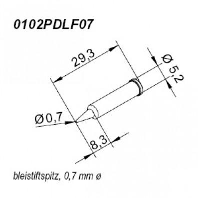 ERSA ERSADUR Lötspitze für i-Tool gerade bleistiftspitz 0,7mm