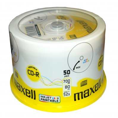 MAXELL CD-R 80 XL 52x speed 700MB 50er Spindel bedruckbar
