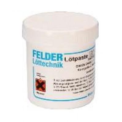 Felder Lotpaste ISO-Cream clear bleifrei Sn96,5Ag3Cu0,5 Korngröße 3 100gr Dose mit Flussmittel