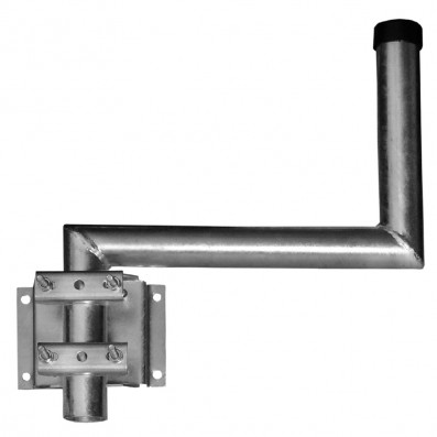 A.S. SAT Wandhalter feuerverzinkter Stahl variabel bis 45cm Wandabstand gewinkelt in S-Form