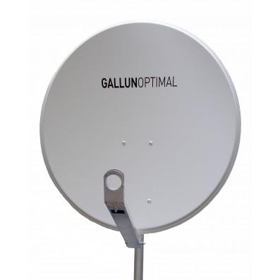 GALLUN 80cm Profi Alu Satelliten Antenne Sat Spiegel Digital hellgrau
