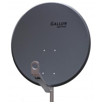 GALLUN 80cm Profi Alu Satelliten Antenne Sat Spiegel Digital anthrazit