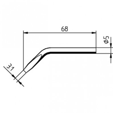 ERSA ERSADUR Lötspitze 30 S abgewinkelt meißelförmig 3,1 mm