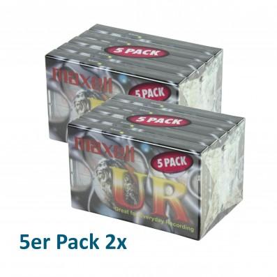 MAXELL UR-90, 90 min. Audiokassette, 2 x 5er Pack