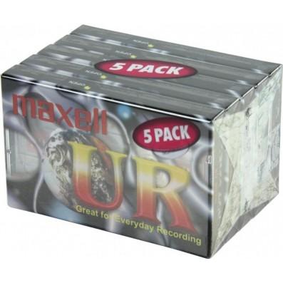 MAXELL UR-90 Audiokassetten 5er Pack