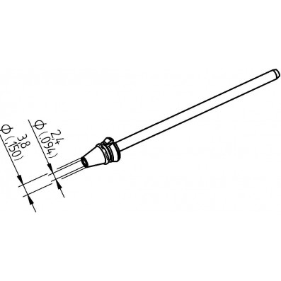 ERSA Entlötspitze für X-Tool Vario Durchmesser innen 2,4 mm außen 3,8 mm hochverzinnt