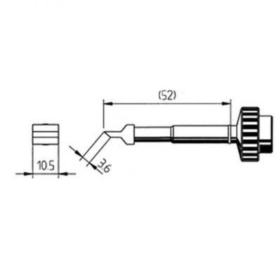 ERSA Lötspitze gerade WickTip 10,5 mm x 3,6 mm für DIGITAL2000A/60A uvm.