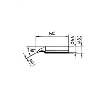 ERSA Lötspitze abgewinkelt bleistiftspitz 0,4 mm für RDS80/ANALOG60 uvm.