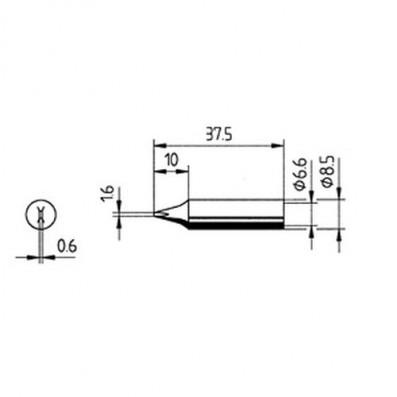 ERSA Lötspitze gerade meißelförmig 1,6 mm für RDS80/ANALOG60/Multi-TC