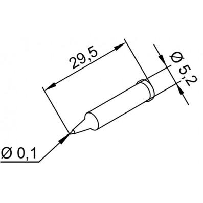 ERSADUR 0102 Lötspitze 0,1 mm