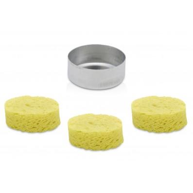 3x ERSA Reinigungsschwamm Durchm. 36 mm & 1 Schwammbehälter 0G156 im Set passend zur Gaslötset-Serie Independent